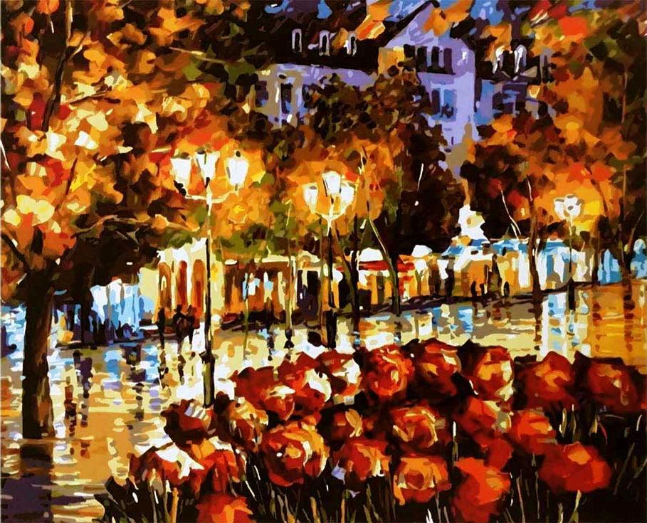 Картина по номерам «Цветы Люксембурга» Леонида АфремоваPaintboy (Premium)<br><br><br>Артикул: GX9119<br>Основа: Холст<br>Сложность: средние<br>Размер: 40x50 см<br>Количество цветов: 26<br>Техника рисования: Без смешивания красок