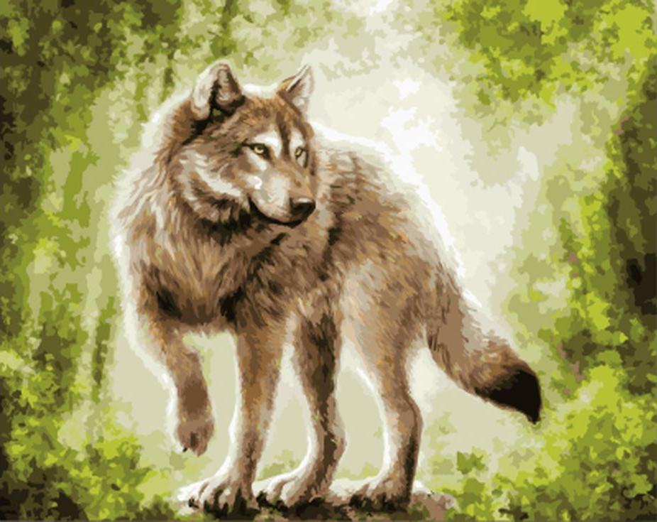 «В лесной чаще»Цветной (Standart)<br><br><br>Артикул: GX9552_Z<br>Основа: Холст<br>Сложность: сложные<br>Размер: 40x50 см<br>Количество цветов: 25<br>Техника рисования: Без смешивания красок