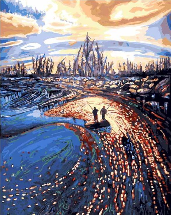 Картина по номерам «Фантастическая река»Цветной (Standart)<br><br><br>Артикул: GX9591_Z<br>Основа: Холст<br>Сложность: сложные<br>Размер: 40x50 см<br>Количество цветов: 25<br>Техника рисования: Без смешивания красок