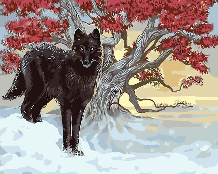 Картина по номерам «Черный пес»Цветной (Standart)<br><br><br>Артикул: GX9634_Z<br>Основа: Холст<br>Сложность: сложные<br>Размер: 40x50 см<br>Количество цветов: 25<br>Техника рисования: Без смешивания красок