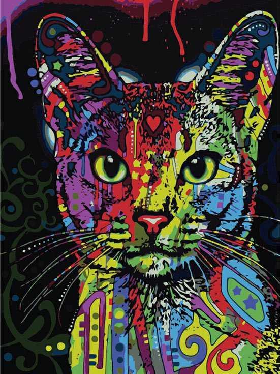 «Абиссинский кот» Дина РуссоPaintboy (Premium)<br><br><br>Артикул: GX9868<br>Основа: Холст<br>Сложность: сложные<br>Размер: 40x50<br>Количество цветов: 25<br>Техника рисования: Без смешивания красок
