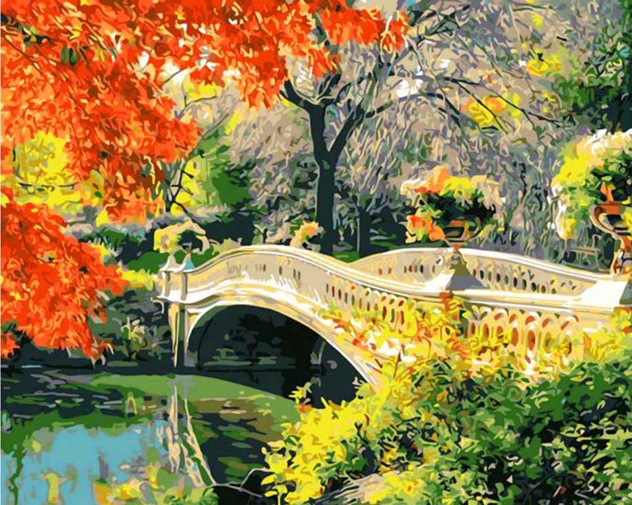 Картина по номерам «Осень в Центральном парке. Швейцария»Paintboy (Premium)<br><br><br>Артикул: GX9880<br>Основа: Холст<br>Сложность: сложные<br>Размер: 40x50 см<br>Количество цветов: 25<br>Техника рисования: Без смешивания красок