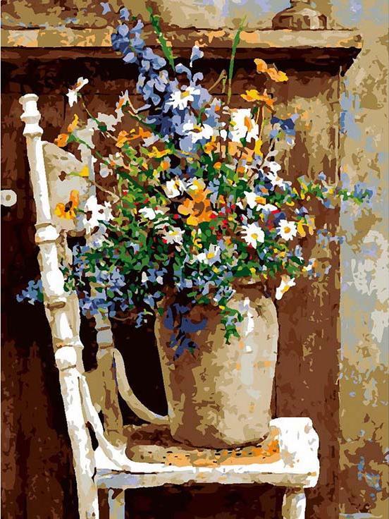 «Утренняя композиция»Раскраски по номерам Paintboy (Original)<br><br><br>Артикул: GX9884_R<br>Основа: Холст<br>Сложность: средние<br>Размер: 40x50 см<br>Количество цветов: 25<br>Техника рисования: Без смешивания красок