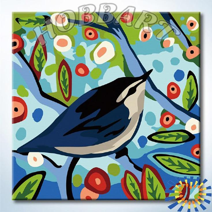 «Лесная песня»Hobbart<br><br><br>Артикул: HB2020088<br>Основа: Холст<br>Сложность: легкие<br>Размер: 20x20<br>Количество цветов: 16<br>Техника рисования: Без смешивания красок