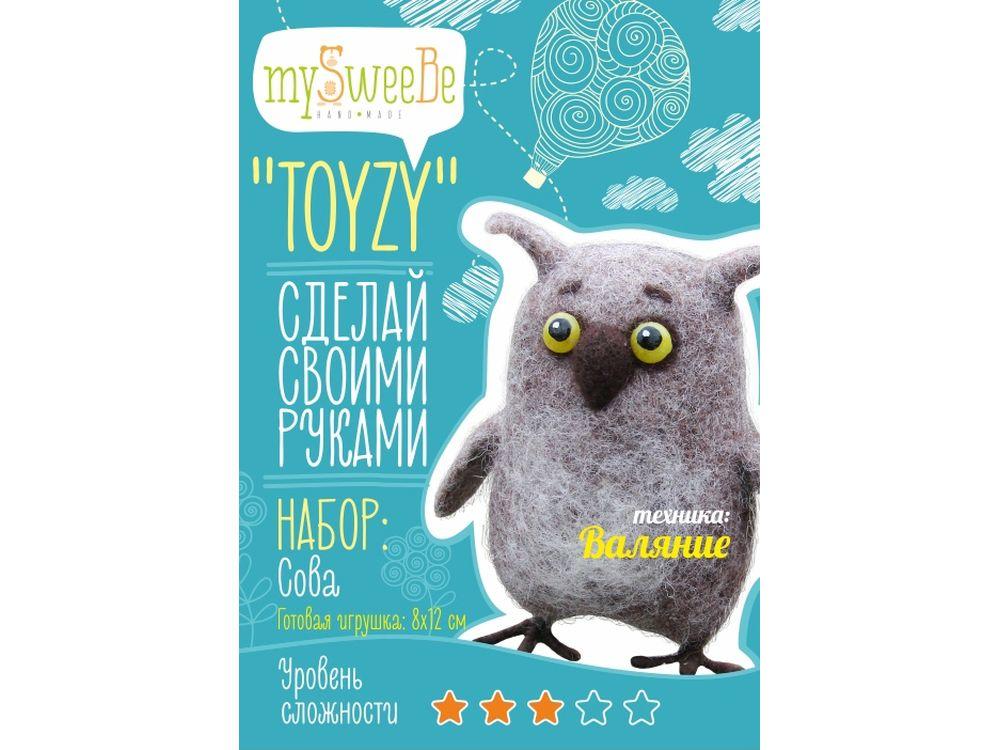 Набор Toyzy «Сова»Валяние игрушек<br>Игрушка, изготовленная своими руками для ребенка или любимого человека, - один из самых трогательных и бережно хранимых подарков. Наборы TOYZY позволяют воплотить смелые желания по рукоделию в жизнь без затрат времени на поиск нужных матери...<br><br>Артикул: TZ-F002<br>Сложность: средние<br>Размер: 8x12 см<br>Тип шерсти: Новозеландская кардочесанная шерсть<br>Техника: Валяние