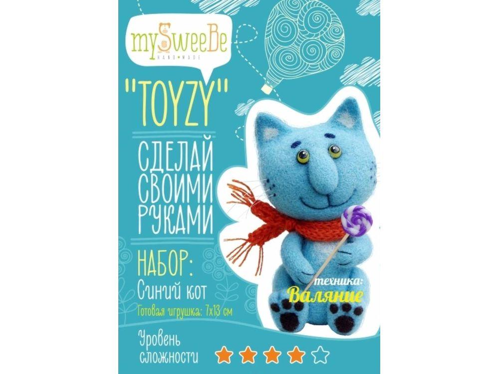 Набор Toyzy «Синий кот»Валяние игрушек<br>Игрушка, изготовленная своими руками для ребенка или любимого человека, - один из самых трогательных и бережно хранимых подарков. Наборы TOYZY позволяют воплотить смелые желания по рукоделию в жизнь без затрат времени на поиск нужных матери...<br><br>Артикул: TZ-F004<br>Сложность: сложные<br>Размер: 7x13 см<br>Тип шерсти: Новозеландская кардочесанная шерсть<br>Техника: Валяние