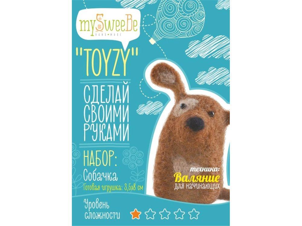 Набор Toyzy «Собачка»Валяние игрушек<br>Игрушка, изготовленная своими руками для ребенка или любимого человека, - один из самых трогательных и бережно хранимых подарков. Наборы TOYZY позволяют воплотить смелые желания по рукоделию в жизнь без затрат времени на поиск нужных матери...<br><br>Артикул: TZ-F005<br>Сложность: очень легкие<br>Размер: 3,5x8 см<br>Тип шерсти: Новозеландская кардочесанная шерсть<br>Техника: Валяние для начинающих