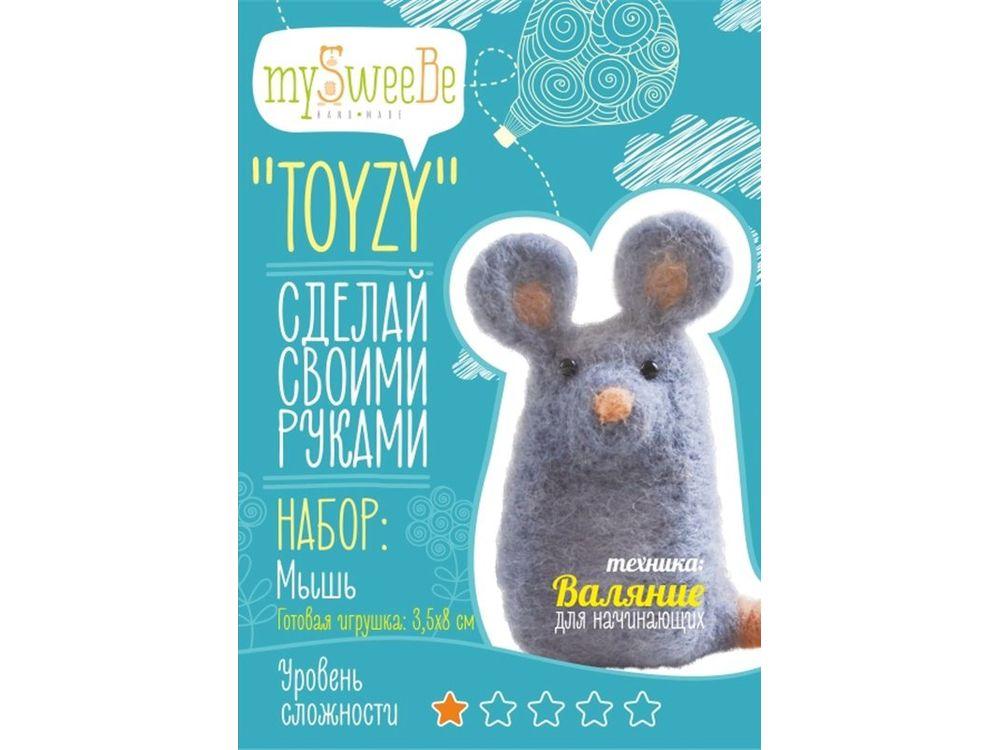 Набор Toyzy «Мышь»Валяние игрушек<br>Игрушка, изготовленная своими руками для ребенка или любимого человека, - один из самых трогательных и бережно хранимых подарков. Наборы TOYZY позволяют воплотить смелые желания по рукоделию в жизнь без затрат времени на поиск нужных матери...<br><br>Артикул: TZ-F007<br>Сложность: очень легкие<br>Размер: 3,5x8 см<br>Тип шерсти: Новозеландская кардочесанная шерсть<br>Техника: Валяние для начинающих