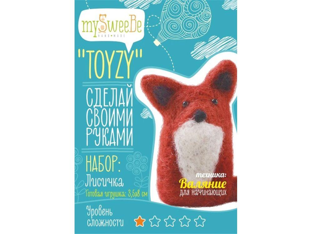 Набор Toyzy «Лисичка»Валяние игрушек<br>Игрушка, изготовленная своими руками для ребенка или любимого человека, - один из самых трогательных и бережно хранимых подарков. Наборы TOYZY позволяют воплотить смелые желания по рукоделию в жизнь без затрат времени на поиск нужных матери...<br><br>Артикул: TZ-F009<br>Сложность: очень легкие<br>Размер: 3,5x8 см<br>Тип шерсти: Новозеландская кардочесанная шерсть<br>Техника: Валяние для начинающих