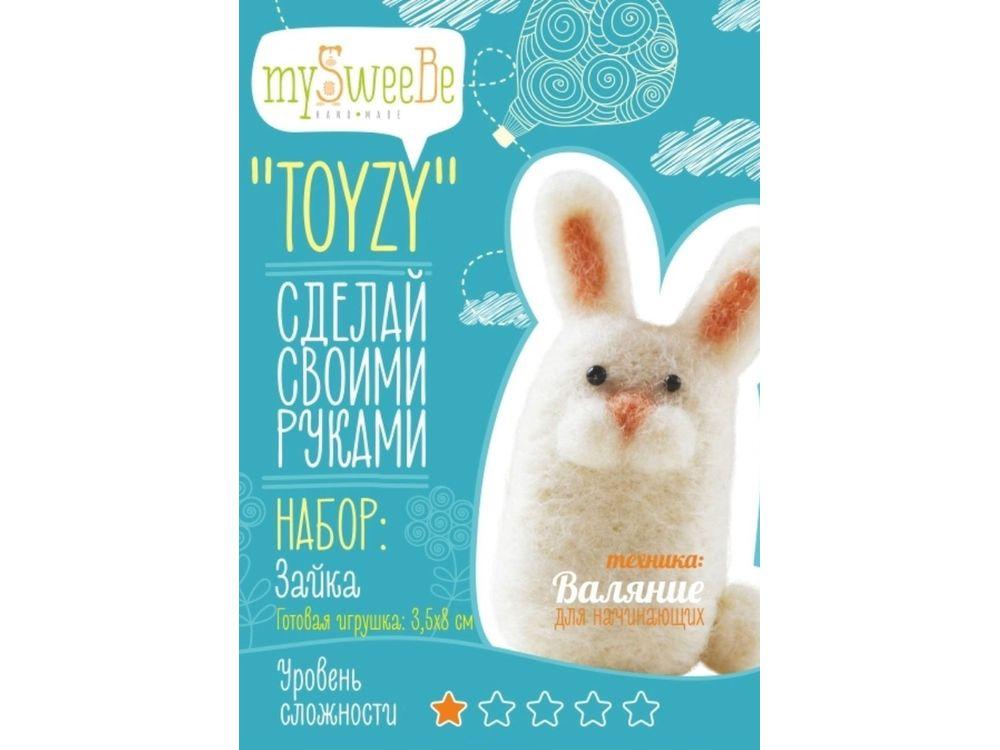 Набор Toyzy «Зайка»Валяние игрушек<br>Игрушка, изготовленная своими руками для ребенка или любимого человека, - один из самых трогательных и бережно хранимых подарков. Наборы TOYZY позволяют воплотить смелые желания по рукоделию в жизнь без затрат времени на поиск нужных матери...<br><br>Артикул: TZ-F010<br>Сложность: очень легкие<br>Размер: 3,5x8 см<br>Тип шерсти: Новозеландская кардочесанная шерсть<br>Техника: Валяние для начинающих