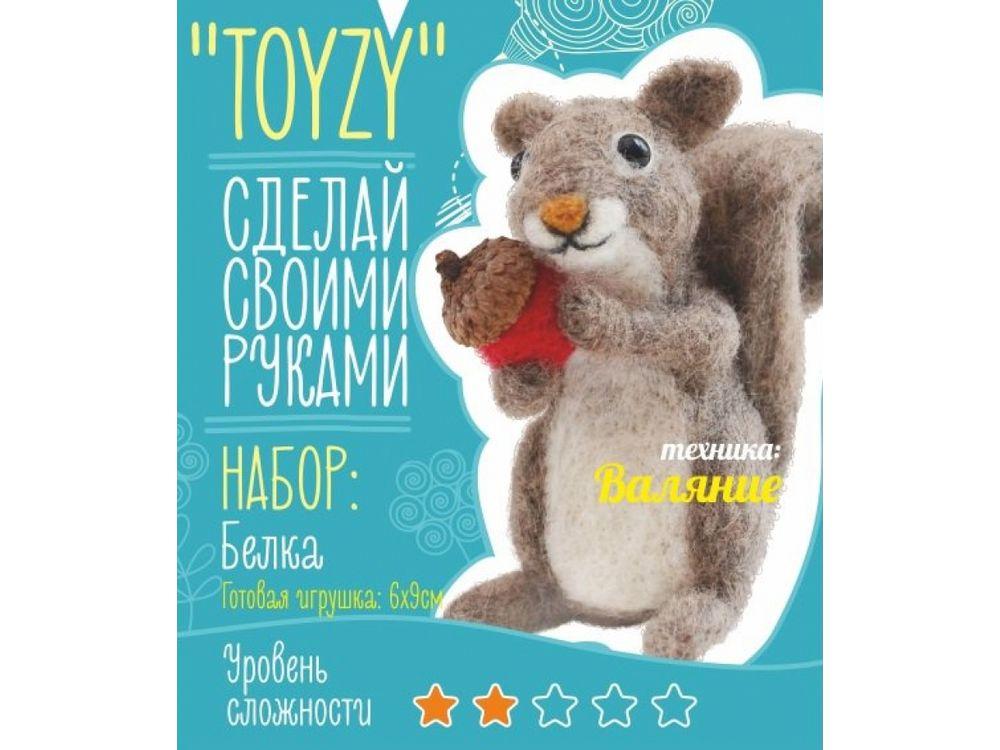 Набор Toyzy «Белка»Валяние игрушек<br>Игрушка, изготовленная своими руками для ребенка или любимого человека, - один из самых трогательных и бережно хранимых подарков. Наборы TOYZY позволяют воплотить смелые желания по рукоделию в жизнь без затрат времени на поиск нужных матери...<br><br>Артикул: TZ-F013<br>Сложность: легкие<br>Размер: 6x9 см<br>Тип шерсти: Новозеландская кардочесанная шерсть<br>Техника: Валяние