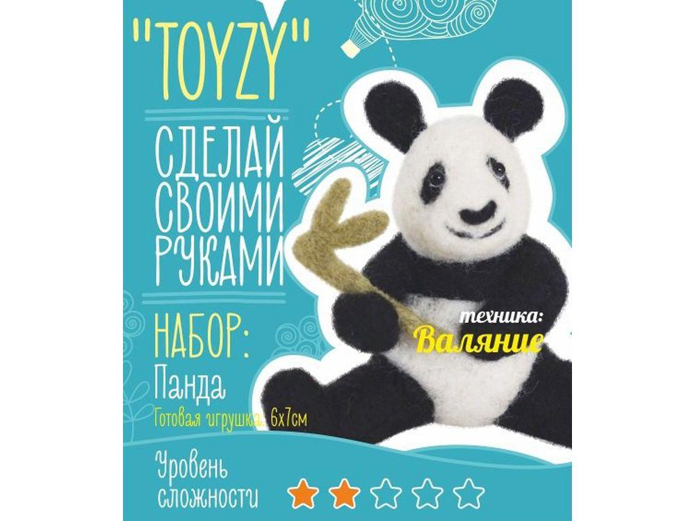 Набор Toyzy «Панда»Валяние игрушек<br>Игрушка, изготовленная своими руками для ребенка или любимого человека, - один из самых трогательных и бережно хранимых подарков. Наборы TOYZY позволяют воплотить смелые желания по рукоделию в жизнь без затрат времени на поиск нужных матери...<br><br>Артикул: TZ-F014<br>Сложность: легкие<br>Размер: 6x7 см<br>Тип шерсти: Новозеландская кардочесанная шерсть<br>Техника: Валяние