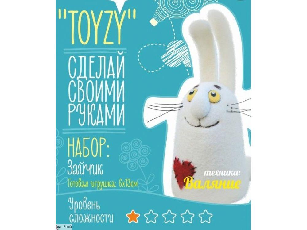 Набор Toyzy «Зайчик»Валяние игрушек<br>Игрушка, изготовленная своими руками для ребенка или любимого человека, - один из самых трогательных и бережно хранимых подарков. Наборы TOYZY позволяют воплотить смелые желания по рукоделию в жизнь без затрат времени на поиск нужных матери...<br><br>Артикул: TZ-F015<br>Сложность: очень легкие<br>Размер: 6x13 см<br>Тип шерсти: Новозеландская кардочесанная шерсть<br>Техника: Валяние