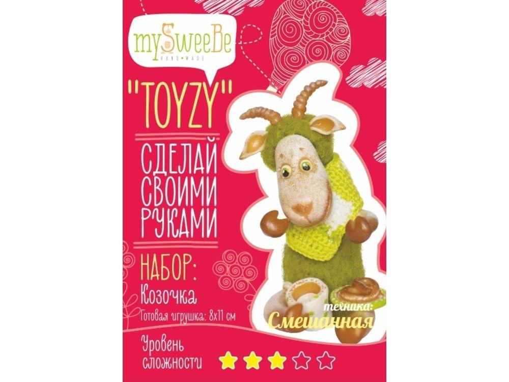 Набор Toyzy «Козочка»Валяние игрушек<br>Игрушка, изготовленная своими руками для ребенка или любимого человека, - один из самых трогательных и бережно хранимых подарков. Наборы TOYZY позволяют воплотить смелые желания по рукоделию в жизнь без затрат времени на поиск нужных матери...<br><br>Артикул: TZ-M001<br>Сложность: средние<br>Размер: 8x11 см<br>Тип шерсти: Новозеландская кардочесанная шерсть<br>Техника: Смешанная