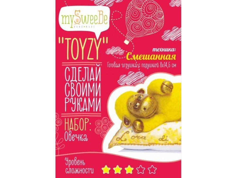 Набор Toyzy «Овечка»Валяние игрушек<br>Игрушка, изготовленная своими руками для ребенка или любимого человека, - один из самых трогательных и бережно хранимых подарков. Наборы TOYZY позволяют воплотить смелые желания по рукоделию в жизнь без затрат времени на поиск нужных матери...<br><br>Артикул: TZ-M002<br>Сложность: средние<br>Размер: 8x14,5 см<br>Тип шерсти: Новозеландская кардочесанная шерсть<br>Техника: Смешанная