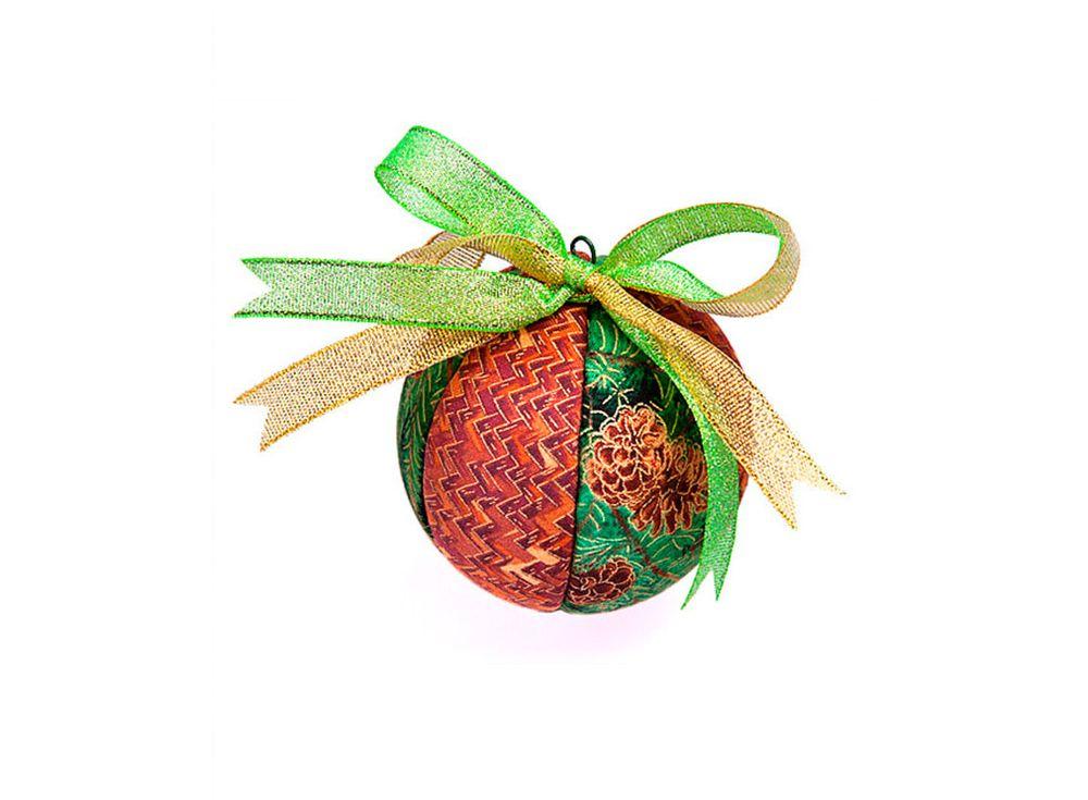Кинусайга «Новогодний шар»Кинусайга<br><br><br>Артикул: КН-Ш1<br>Основа: Пенопластовый шар<br>Размер: 8 см (диаметр)
