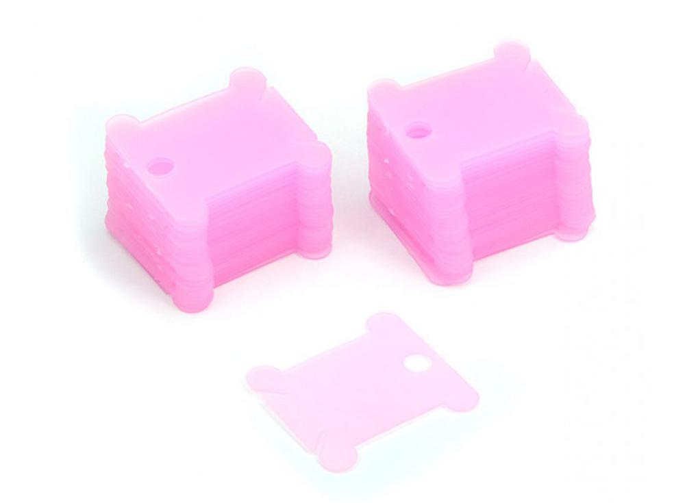 Шпули пластиковые розовые (50 шт.)Аксессуары для вышивки<br><br><br>Артикул: 008-Ш<br>Цвет: Розовый<br>Количество: 50 шт.