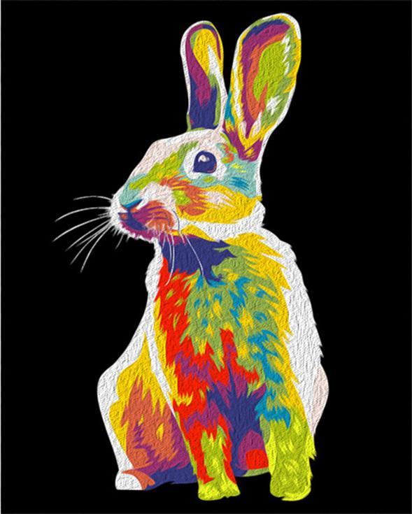 """Картина по номерам «Радужный кролик»Артвентура<br>Картины по номерам """"Артвентура"""" - это высокое качество составляющих от холста до оригинальной упаковки.<br> Отличие наборов этого бренда от других производителей заключается в том, что:<br> - каждая схема разработана с ювелирной точностью;<br> - белый высококач...<br><br>Артикул: 02ART50400162<br>Основа: Холст<br>Сложность: легкие<br>Размер: 40x50 см<br>Количество цветов: 13<br>Техника рисования: Без смешивания красок"""