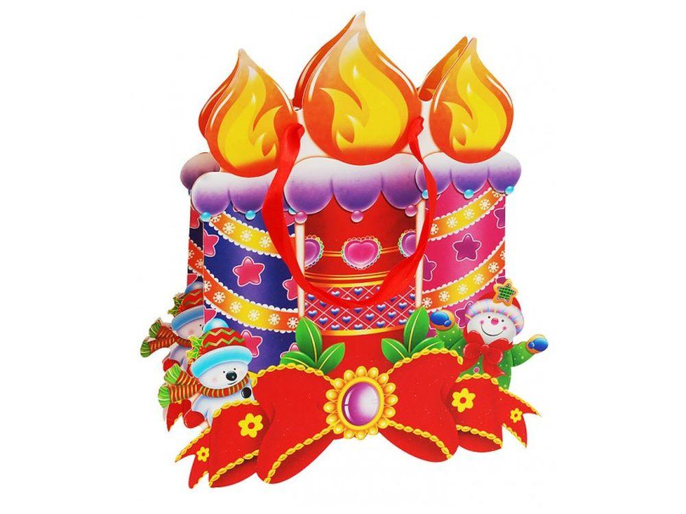 Пакет «Яркие свечи»Подарочные пакеты<br><br><br>Артикул: 1492-SB<br>Размер: 26х26х8 см