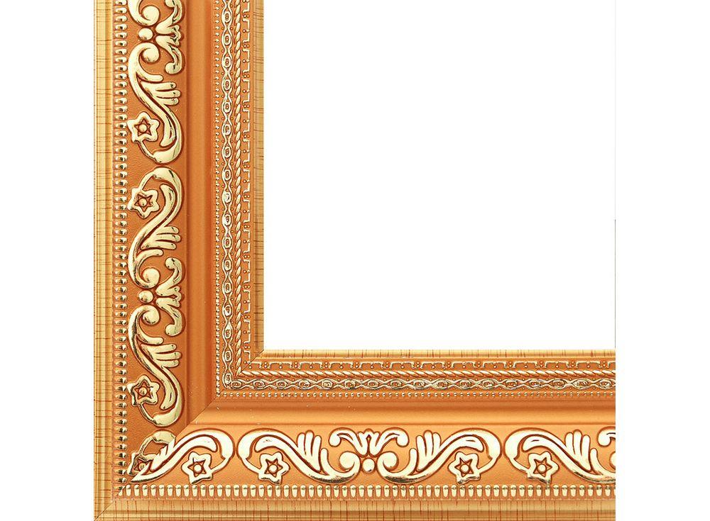 Рамка для картин «Jasmine»Багетные рамки<br><br><br>Артикул: 2042-BB<br>Размер: 40x50 см<br>Цвет: Коричневый и золото<br>Ширина: 50 мм<br>Материал багета: Пластик