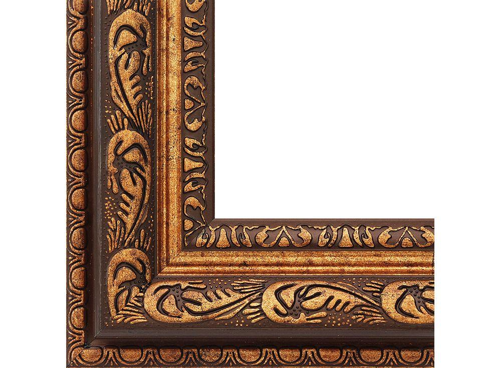 Рамка для картин «Lydia»Багетные рамки<br><br><br>Артикул: 2312-BB<br>Размер: 40x50 см<br>Цвет: Коричневый и золото<br>Ширина: 65 мм<br>Материал багета: Пластик