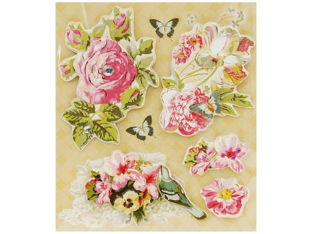 3D-стикеры «Розы»Бумага и материалы для скрапбукинга<br><br><br>Артикул: 2573-SB<br>Размер: 12х14 см