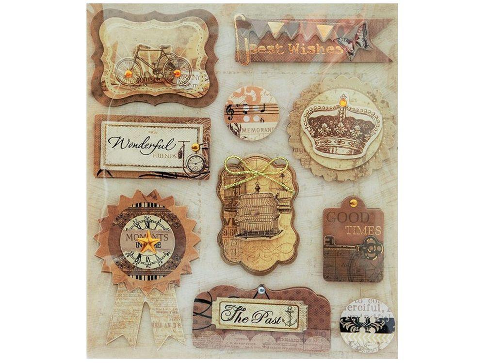 3D-стикеры «Старинные украшения»Бумага и материалы для скрапбукинга<br><br><br>Артикул: 2581-SB<br>Размер: 12х14 см