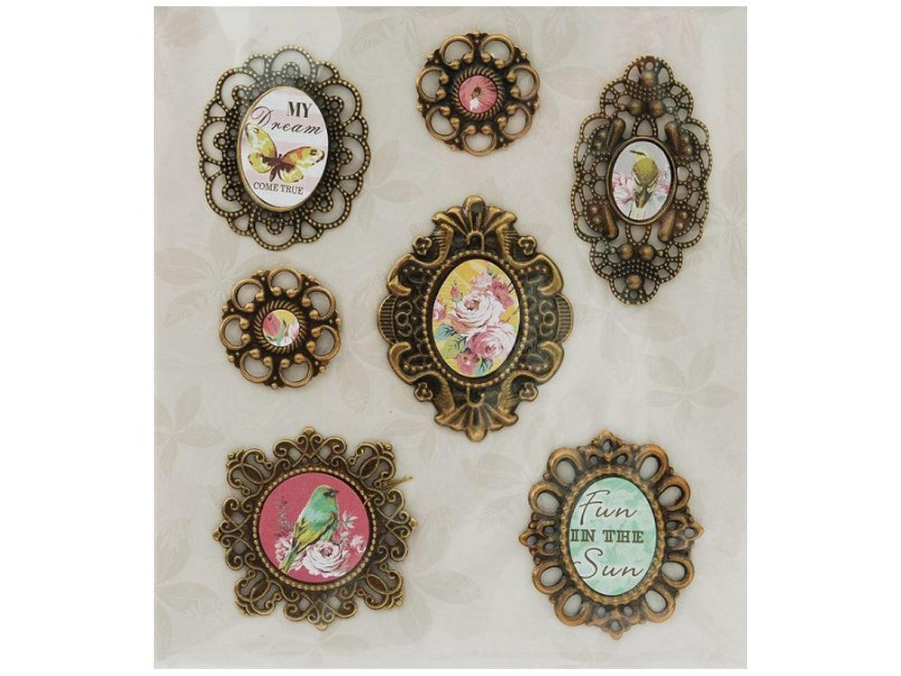3D-стикеры «Медальон Подарочный»Бумага и материалы для скрапбукинга<br><br><br>Артикул: 2585-SB<br>Размер: 12х14 см