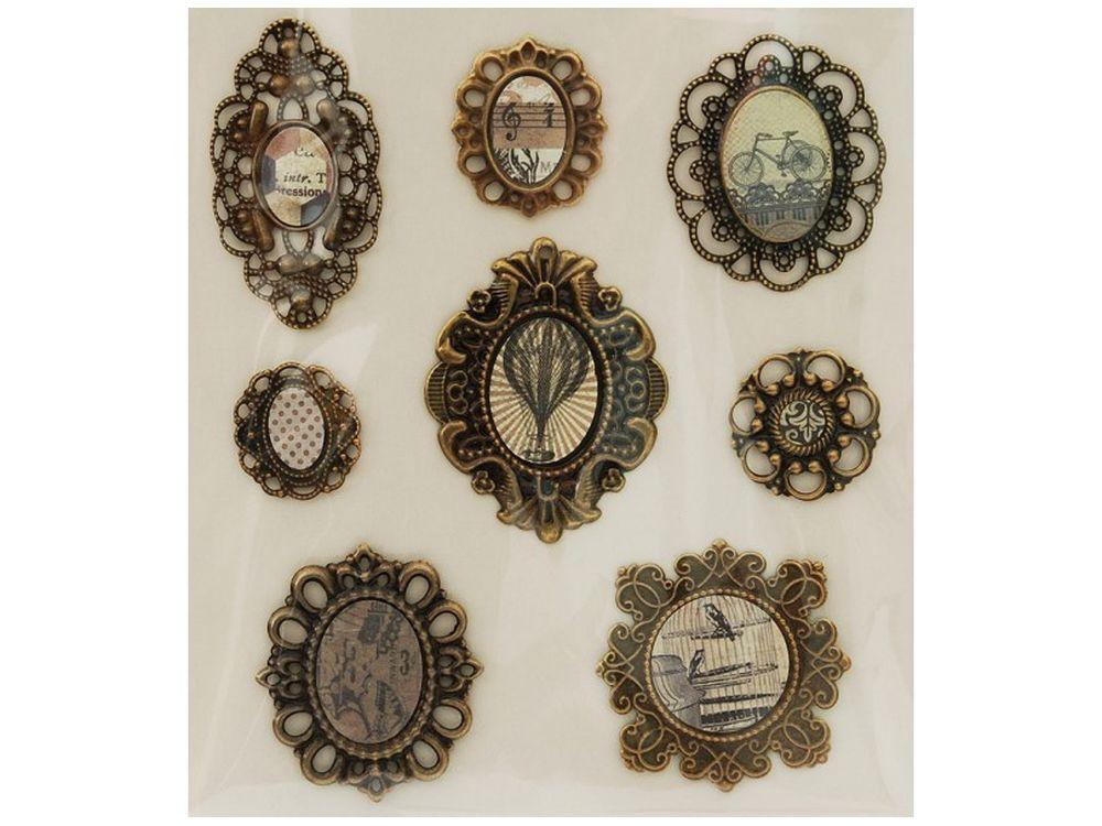 3D-стикеры «Медальоны Винтаж»Бумага и материалы для скрапбукинга<br><br><br>Артикул: 2587-SB<br>Размер: 12х14 см
