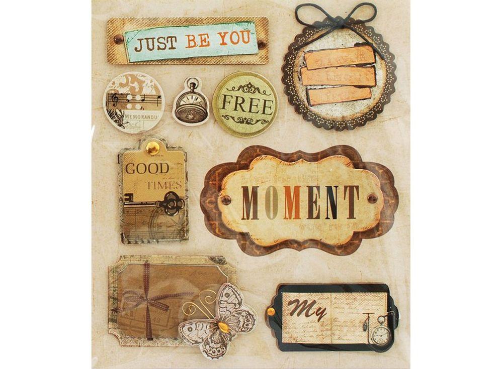 3D-стикеры «Лучшие моменты»Бумага и материалы для скрапбукинга<br><br><br>Артикул: 2591-SB<br>Размер: 12x14 см