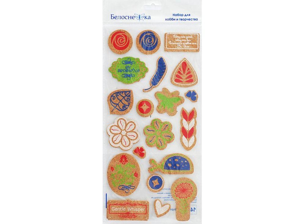 Пробковые стикеры «Цветы и листья»Бумага и материалы для скрапбукинга<br><br><br>Артикул: 2715-SB<br>Размер: 15x30 см<br>Количество шт: 20<br>Материал: Пробка