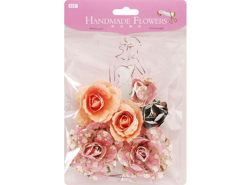 Бумажные цветы «Розовая паприка»Бумага и материалы для скрапбукинга<br><br><br>Артикул: 2820-SB<br>Размер: лист 11x13,5 см<br>Количество шт: 6<br>Материал: Бумага