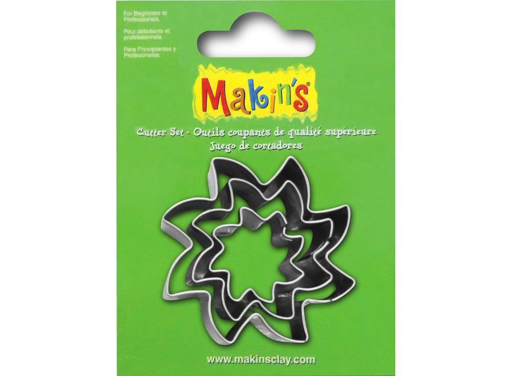Набор каттеров Makins «Солнце»Инструменты для лепки<br><br><br>Артикул: 36032<br>Размер: 20 мм, 30 мм, 40 мм<br>Количество: 3 шт.