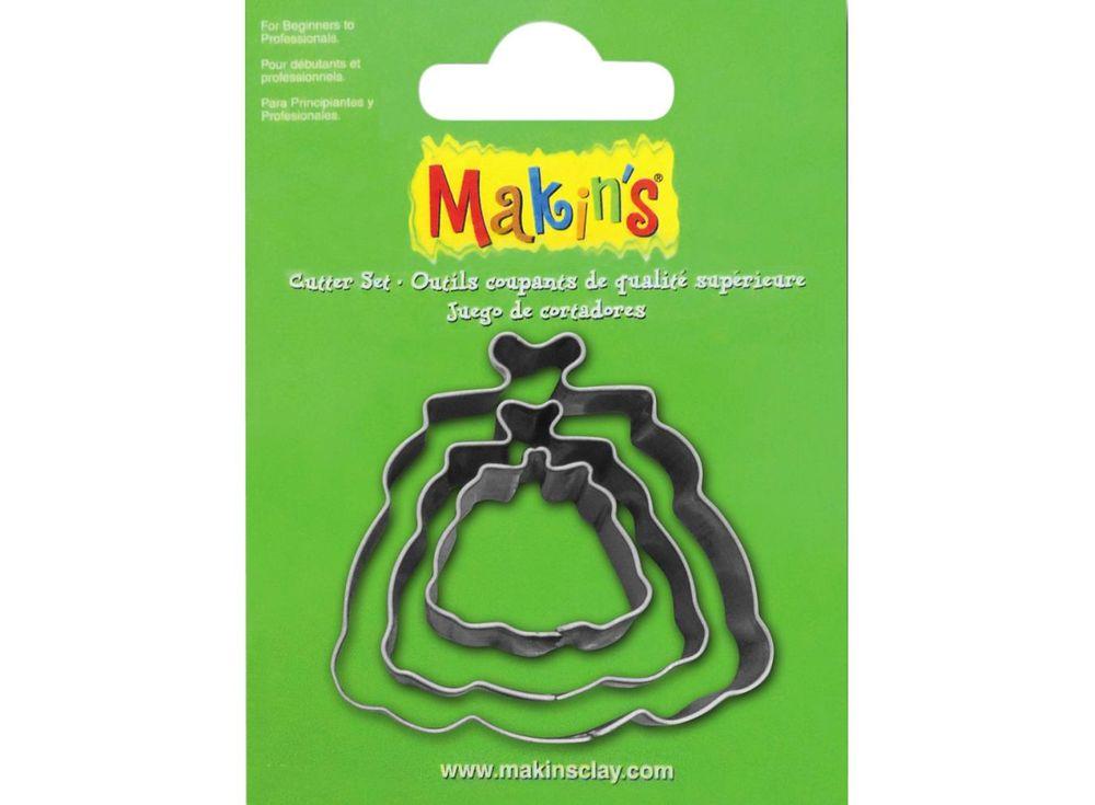 Набор каттеров Makins «Сумка»Инструменты для лепки<br><br><br>Артикул: 36036<br>Размер: 20 мм, 30 мм, 40 мм<br>Количество: 3 шт.