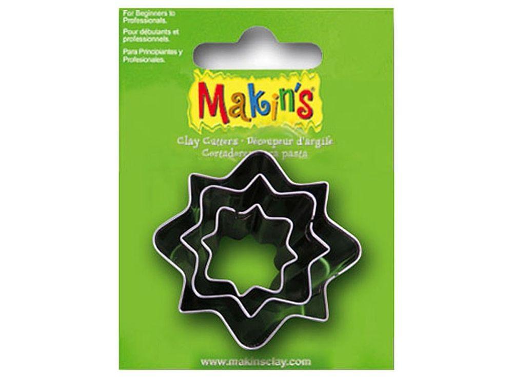 Набор каттеров Makins «Орнамент»Инструменты для лепки<br><br><br>Артикул: 36039<br>Размер: 20 мм, 30 мм, 40 мм<br>Количество: 3 шт.
