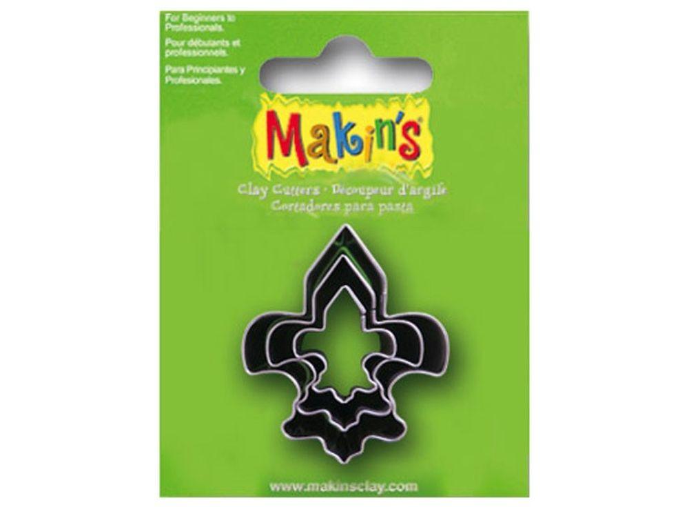 Набор каттеров Makins «Геральдическая лилия»Инструменты для лепки<br><br><br>Артикул: 36040<br>Размер: 20 мм, 30 мм, 40 мм<br>Количество: 3 шт.