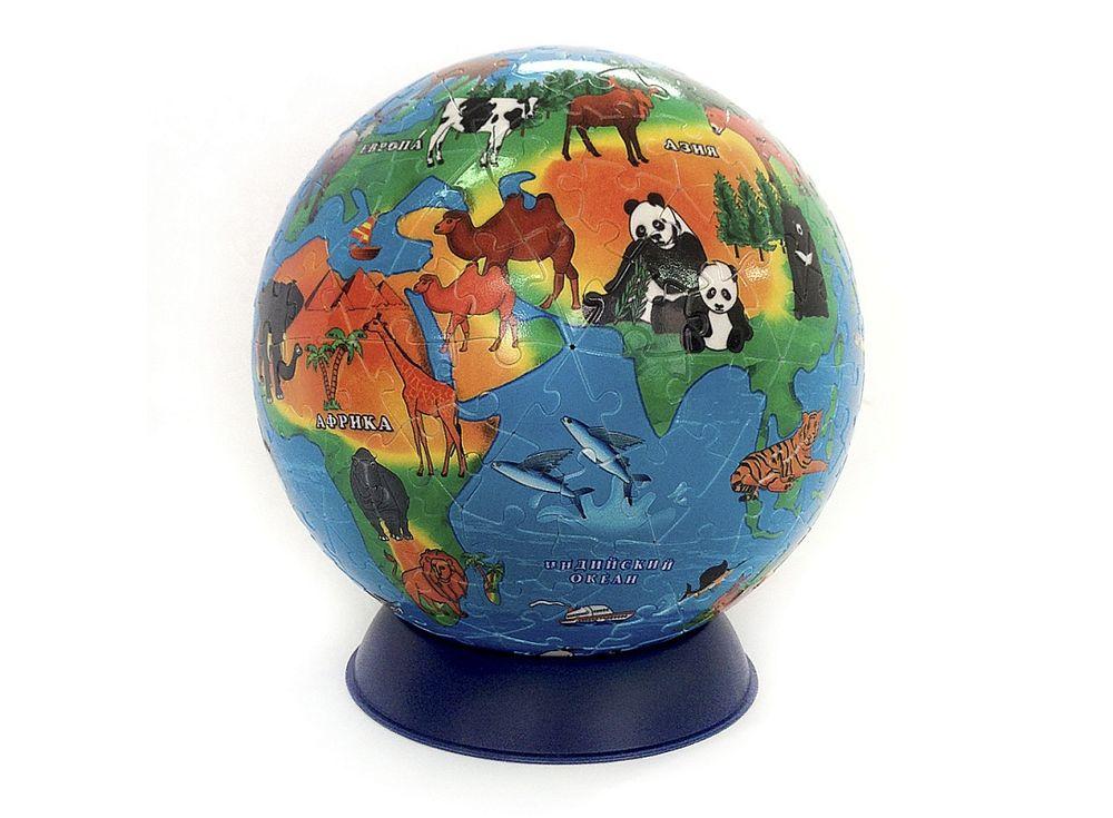 Пазл-сфера «Обитатели Земли»Геодом<br><br><br>Артикул: 4607177452326<br>Основа: Пластик<br>Размер: 15 см