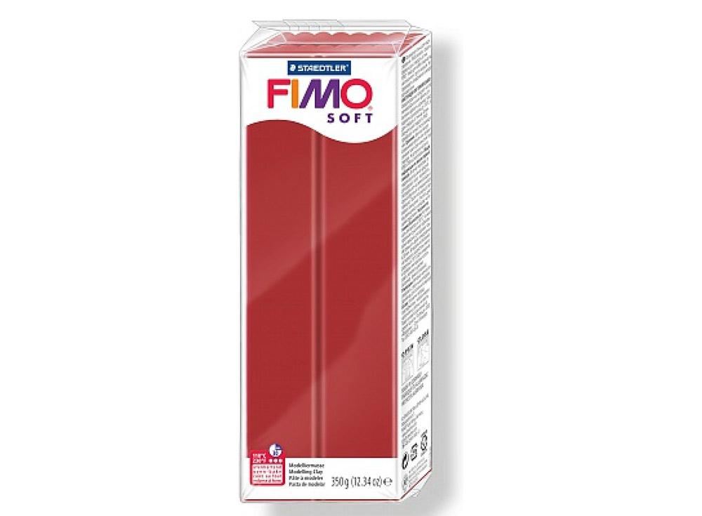FIMO Soft 2P (рождественский красный) 350 гПолимерная глина FIMO<br>Полимерная глина FIMO Soft используется для изготовления украшений, бижутерии и предметов декора.<br> <br> Характеристика:<br><br>мягкая (мягче, чем FIMO Professional);<br>хорошо держит форму, плотность глины позволяет тщательно проработать мельчайшие подробности...<br><br>Артикул: 8022-2_P<br>Вес: 350 г<br>Цвет: Рождественский красный<br>Серия: FIMO Soft