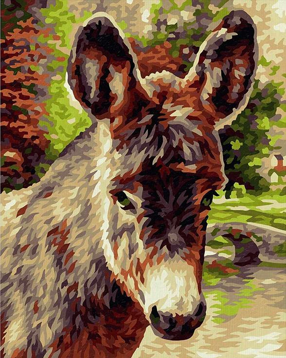 """«Ослик»Schipper (Шиппер)<br>Производитель наборов картин по номерам """"Schipper"""" - это исключительное качество всех составляющих. Особенностью этого бренда является то, что основа картины - высококачественный картон, покрытие которого имитирует натуральный холст. Краски """"Schipper"""" обл...<br><br>Артикул: 9240743<br>Основа: Картон<br>Сложность: сложные<br>Размер: 24x30 см<br>Количество цветов: 25<br>Техника рисования: Без смешивания красок"""