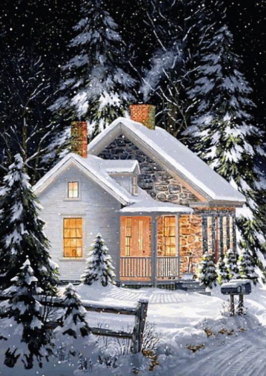 Алмазная вышивка «Зимний уют» Фреда СвонаАлмазная вышивка Гранни<br><br><br>Артикул: Ag543<br>Основа: Холст без подрамника<br>Сложность: средние<br>Размер: 27x38 см<br>Выкладка: Полная<br>Количество цветов: 25<br>Тип страз: Квадратные