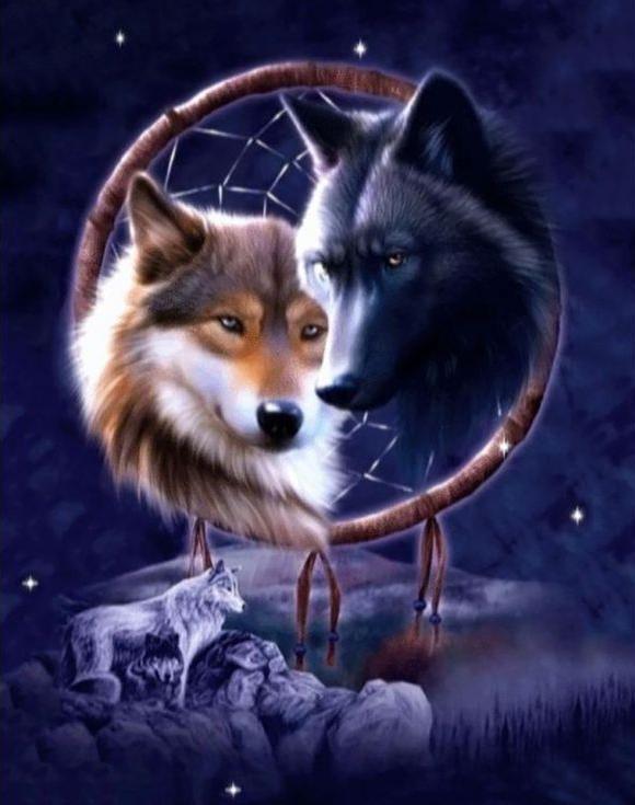 Стразы «Ночные волки»Алмазная вышивка Гранни<br><br><br>Артикул: Ag648<br>Основа: Холст без подрамника<br>Сложность: сложные<br>Размер: 38x48 см<br>Выкладка: Полная<br>Количество цветов: 36<br>Тип страз: Квадратные