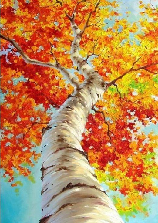 Стразы «Осенняя береза»Алмазная вышивка Гранни<br><br><br>Артикул: Ag868<br>Основа: Холст без подрамника<br>Сложность: средние<br>Размер: 27x38 см<br>Выкладка: Полная<br>Количество цветов: 32<br>Тип страз: Квадратные