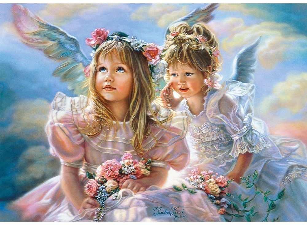 Пазлы «Ангелы» Сандры КукПазлы от производителя Castorland<br>Пазл - игра-головоломка, мозаика, состоящая из множества фрагментов, различающихся по форме.<br> По мнению психологов, игра в пазлы способствует развитию логического мышления, внимания, воображения и памяти. Пазлы хороши для всех возрастов - и ребенка-дошко...<br><br>Артикул: B51762<br>Размер: 47x33 см