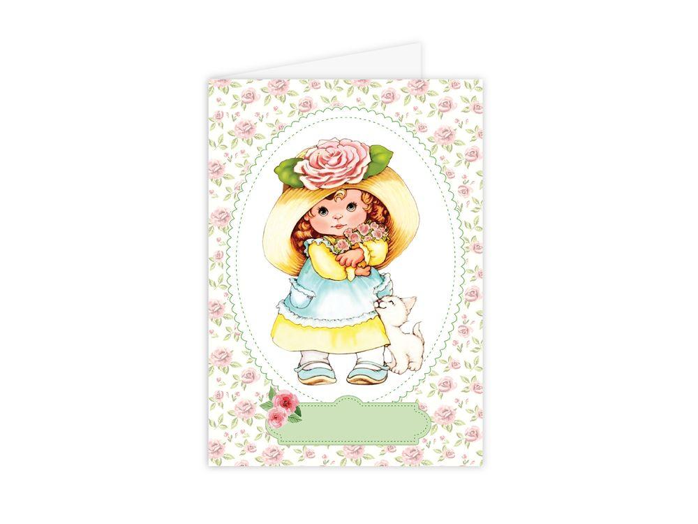 Набор для открытки «Девочка с розами»