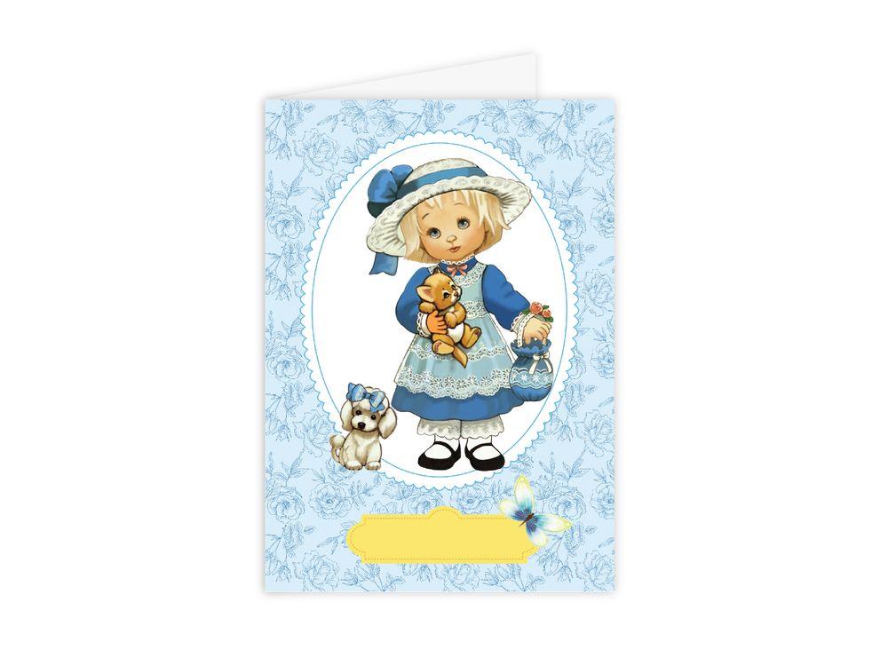 Набор для открытки «Девочка с собачкой»Paperlove<br><br><br>Артикул: C0106<br>Основа: Плотная бумага<br>Сложность: очень легкие<br>Размер: 10х15 см