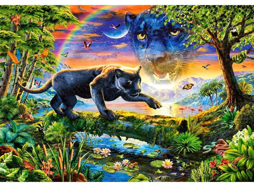 Пазлы «Пантера»Пазлы от производителя Castorland<br>Пазл - игра-головоломка, мозаика, состоящая из множества фрагментов, различающихся по форме.<br> По мнению психологов, игра в пазлы способствует развитию логического мышления, внимания, воображения и памяти. Пазлы хороши для всех возрастов - и ребенка-дошко...<br><br>Артикул: C151356<br>Размер: 68x47 см