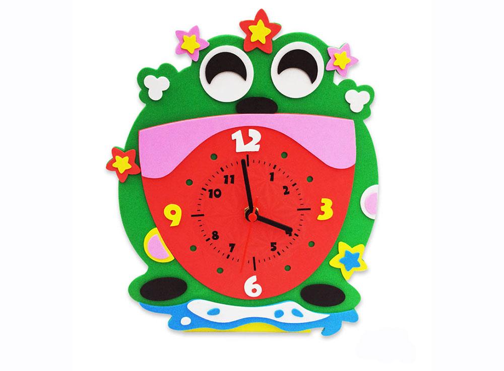 Набор для творчества «Лягушка часы»Наборы из фоамирана<br><br><br>Артикул: CL011<br>Основа: Фоамиран<br>Возраст: от 3 лет