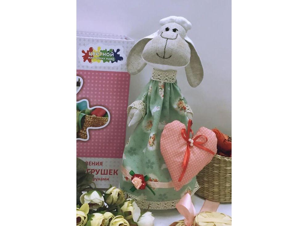 Набор для шитья «Овечка Мечтательница»Наборы для шитья кукол<br><br><br>Артикул: DI009<br>Основа: Текстиль<br>Сложность: очень сложные<br>Размер: Высота готовой игрушки 35 см<br>Техника: Шитье<br>Упаковка: Картонная коробка