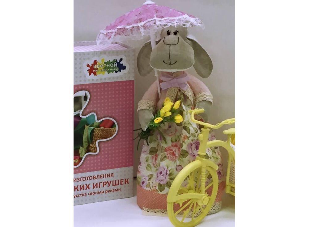 Набор для шитья «Овечка Неженка»Наборы для шитья кукол<br><br><br>Артикул: DI010<br>Основа: Текстиль<br>Сложность: очень сложные<br>Размер: Высота готовой игрушки 35 см<br>Техника: Шитье<br>Упаковка: Картонная коробка