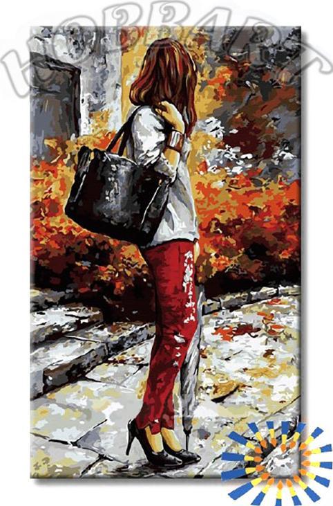 Картина по номерам «Девушка с зонтиком»Hobbart<br><br><br>Артикул: DZ3050006<br>Основа: Холст<br>Сложность: сложные<br>Размер: 30x50 см<br>Количество цветов: 25<br>Техника рисования: Без смешивания красок